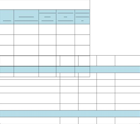 5 pricing sheet template outline templates