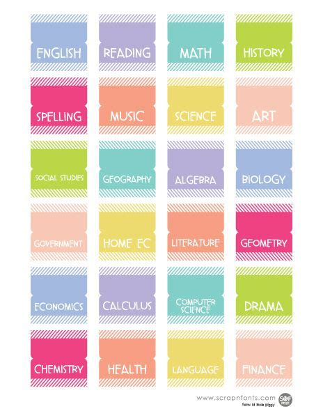 free printable planner tabs 260 best images about fontaholic freebies on pinterest