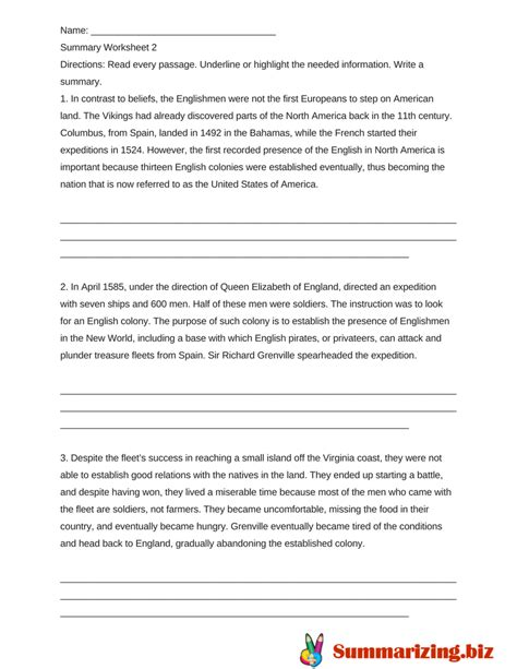 summary writing activities worksheets exle of best summarizing worksheets summarizing