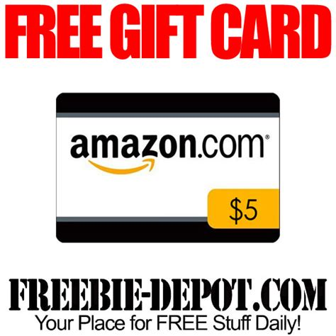 Amazon Gift Card 5 - free 5 amazon gift card freebie depot