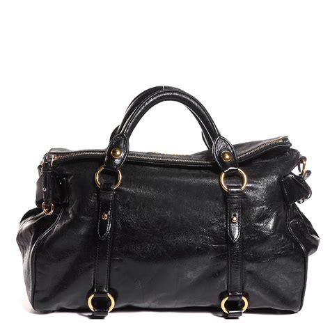 Miu Miu Vitello Large Tote by Miu Miu Vitello Large Bow Bag Nero Black 102515
