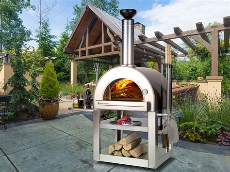 backyard pizza santa fe outdoor wood fired pizza oven full image for pizza oven