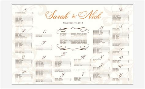 wedding reception seating plan template wedding