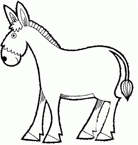 donkey head coloring page donkey outline template www imgkid com the image kid