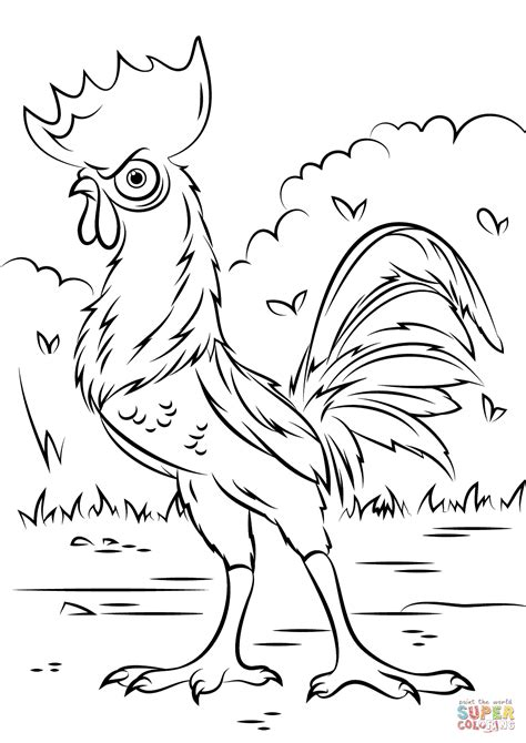 Heihei Rooster From Moana Coloring Page Free Printable Coloring Pages Moana