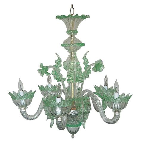 green glass chandelier chandelier murano glass of murano with green for