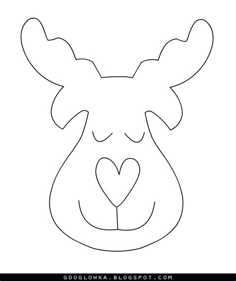reindeer template reindeer pattern www imgkid the image kid has it