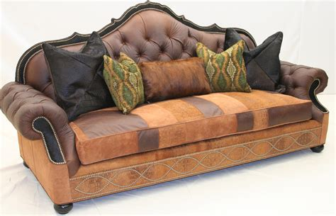 western style sofas tufted leather sofa