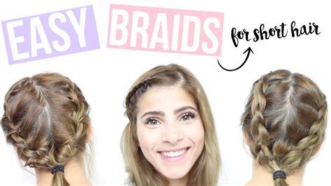 easy braided hairstyles for medium hair youtube easy braids for short hair how to braid short hair youtube