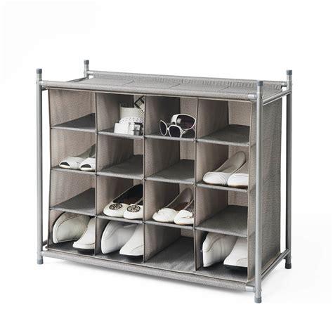 shoe storage cubby neatfreak harmony twill stackable 16 cubby shoe rack wayfair