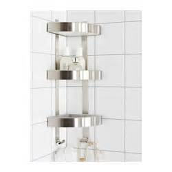 grundtal corner wall shelf unit stainless steel 26x58 cm