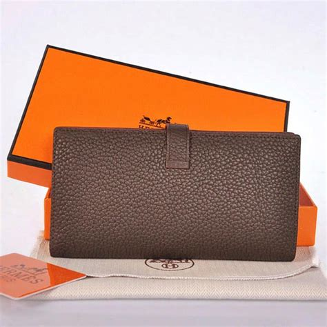 Walet Original 150gr gread aaa 208 hermes 2 flod original leather wallet in