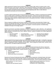 Resume Summary Statement Exle by Sle Resume Summary Statement 9 Exles In Word Pdf