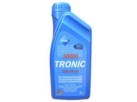 Aral High Tronic 5w 40 1 Liter 1 1 liter aral 5w 40 high tronic motoroel100