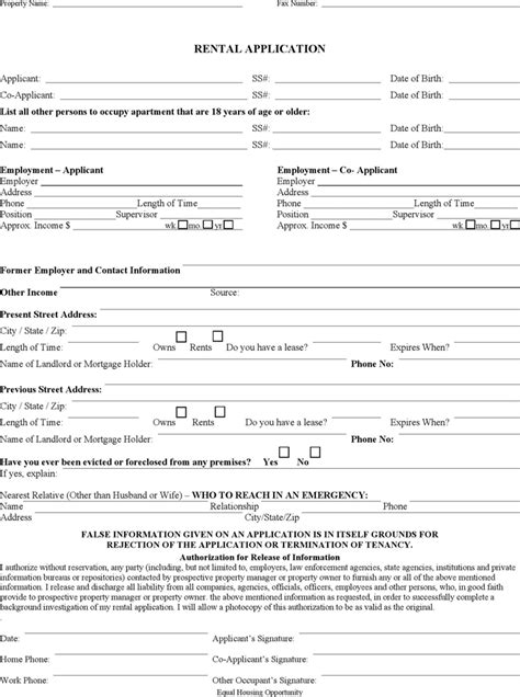 Apartment Application Help The Missouri Rental Application Form Can Help You Make A