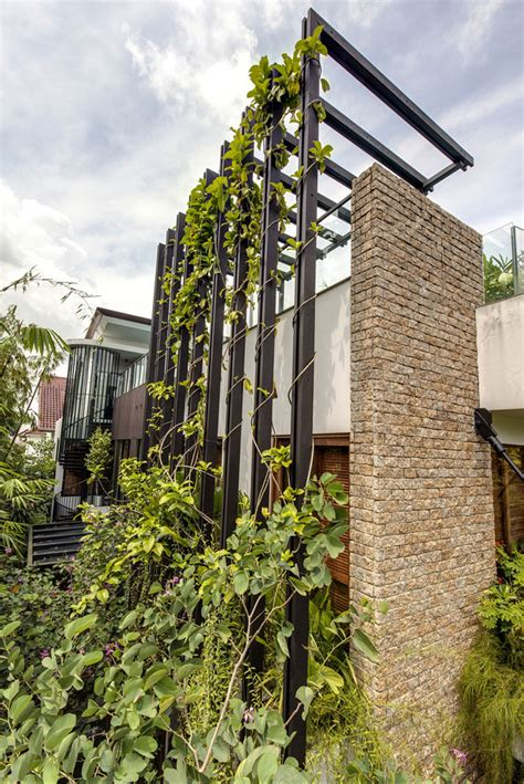 Vertical Landscape Definition Lush Gardens And Peekaboo Roof Pool Define Modern Property