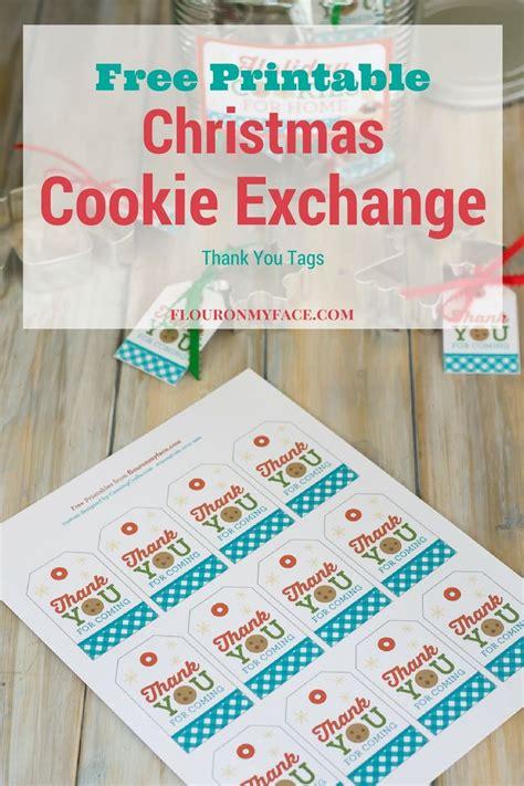 printable christmas baking tags christmas cookie exchange thank you gift tags flour on