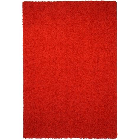 red accent rug shag solid red area rug 3 3 x 4 7 free shipping on