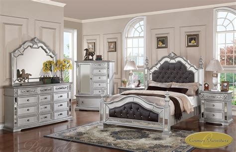 pc pamela upholsteredmirrored queen bedroom set pam   na ebay