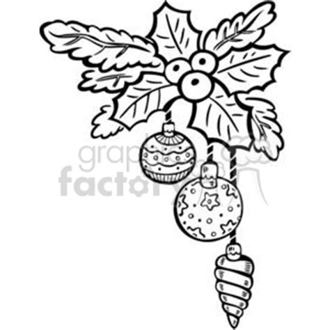 decorations drawings royalty free decoration bulbs and berries 381106
