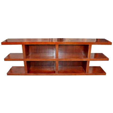 credenza open elegant modern open shelf credenza at 1stdibs