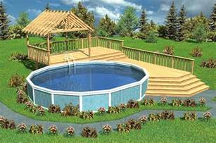 pool deck bauen above ground pool deck design ideas pool design ideas