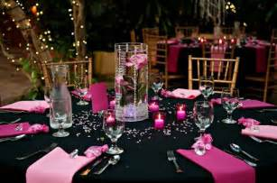 pink and black wedding decor pink and black wedding reception decor getting hitched