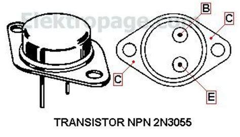 transistor 2n3055 2n3055 2n3055 npn transistor pinout transistors elektropage