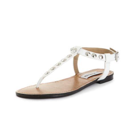 steve madden virrtue flat sandals in white lyst