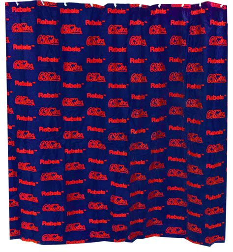 ole miss shower curtain ncaa ole miss rebels shower curtain bathroom decoration