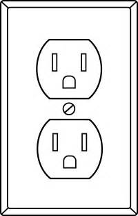 electrical outlet template electrical socket line free clip