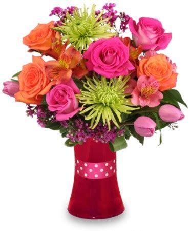 valentines day bouquets vibrant vibes arrangement s day flower shop