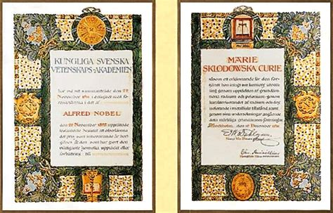 marie curie nobel diploma nobelprizeorg