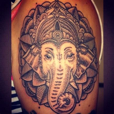 dotwork ganesh ganesh tattooing tattooist tattoo