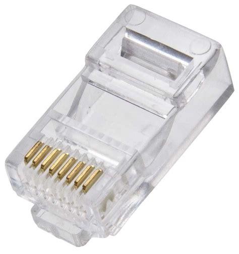 Murah Conector Rj 45 Konektor Rj 45 pacote 100 conector rj45 p rede lan rj 45 menor pre 231 o r 19 89 em mercado livre