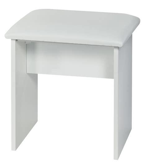 knightsbridge high gloss upholstered stool for dressing table