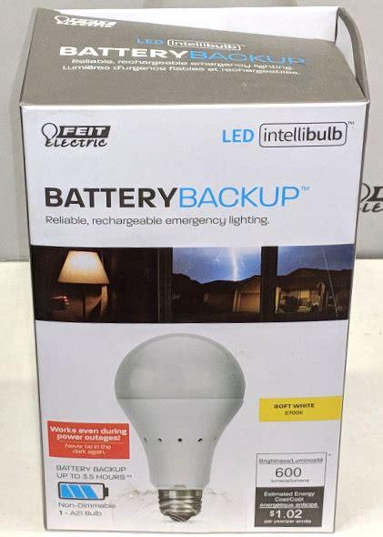 led light bulb with battery backup an led light bulb with its own battery backup