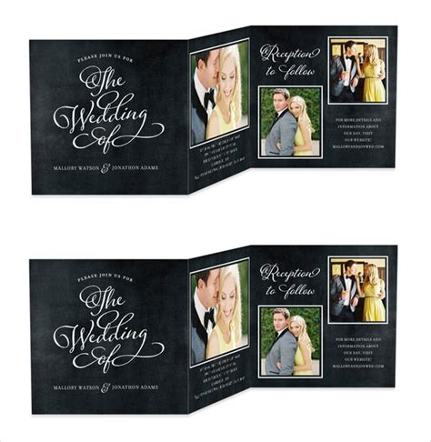 19 trifold wedding invitation templates free sle exle format free