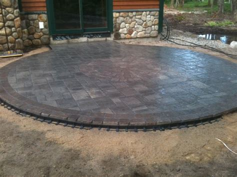 Circular Patio by Patio With Genest Katahdin Brookscapes Property