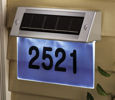 solar address light solar led custom address wall mount light