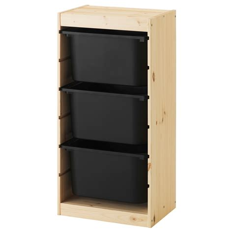 Box Shelf Combo by Trofast Storage Combination With Boxes Light White Stained