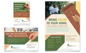 Painting Flyers Templates Free painter painting contractor flyer ad template word publisher