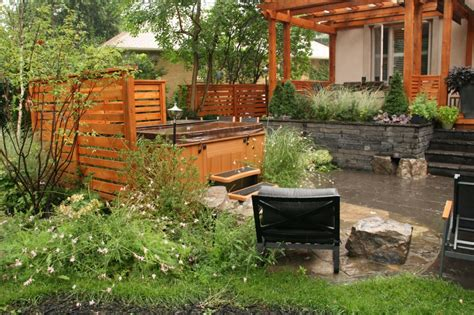 Green Apple Landscape Design Backyard Makeover Including Tub Cedar Pergola