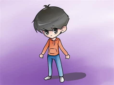 How To Draw A Chibi Boy With Pictures Wikihow How To Draw A Chibi Boy