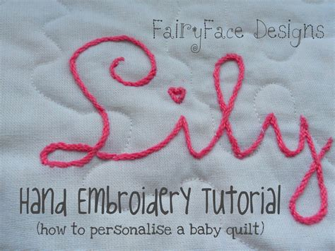 FairyFace Designs: Hand Embroidery Tutorial: How to