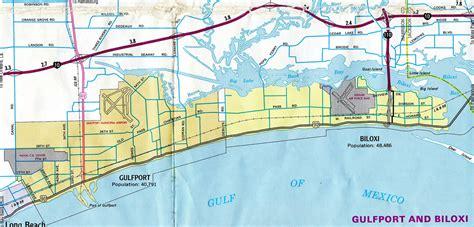 biloxi map interstate guide interstate 110 mississippi