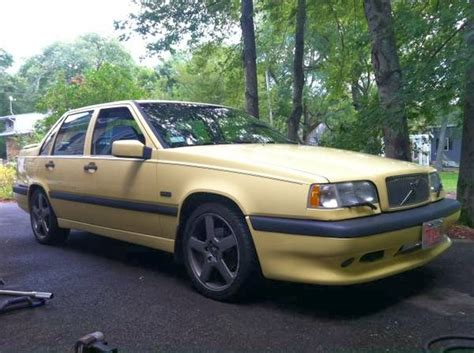 Volvo 850 Sleeper just a car 1995 volvo t5 r a yellow sleeper