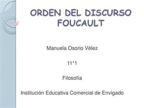 el orden del discurso orden del discurso foucault