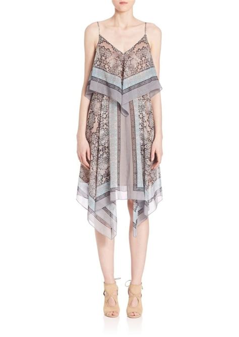 Dress Scarf bcbg max azria bcbgmaxazria novah silk chiffon scarf dress