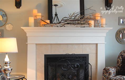 Mantle Decoration by Late Fall Mantel Decor A Pop Of Pretty Canadian